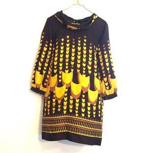 [J.Crew Collection] Silk Deco Print Dress - Size 6
